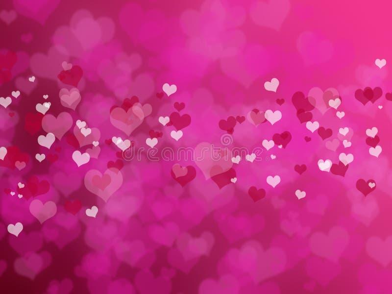 Fond de Saint-Valentin avec des coeurs illustration libre de droits