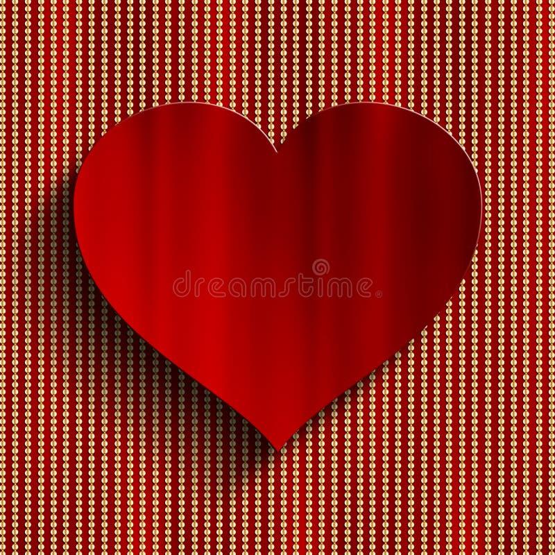 Fond de Saint-Valentin - coeur rouge illustration de vecteur