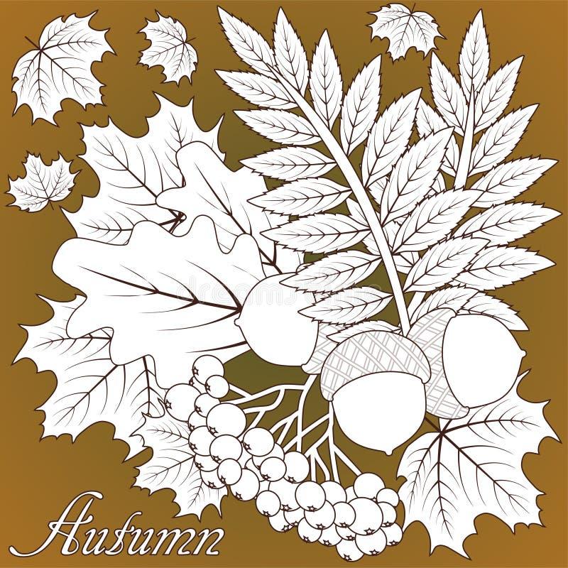 Fond de saison d'automne, vecteur illustration libre de droits