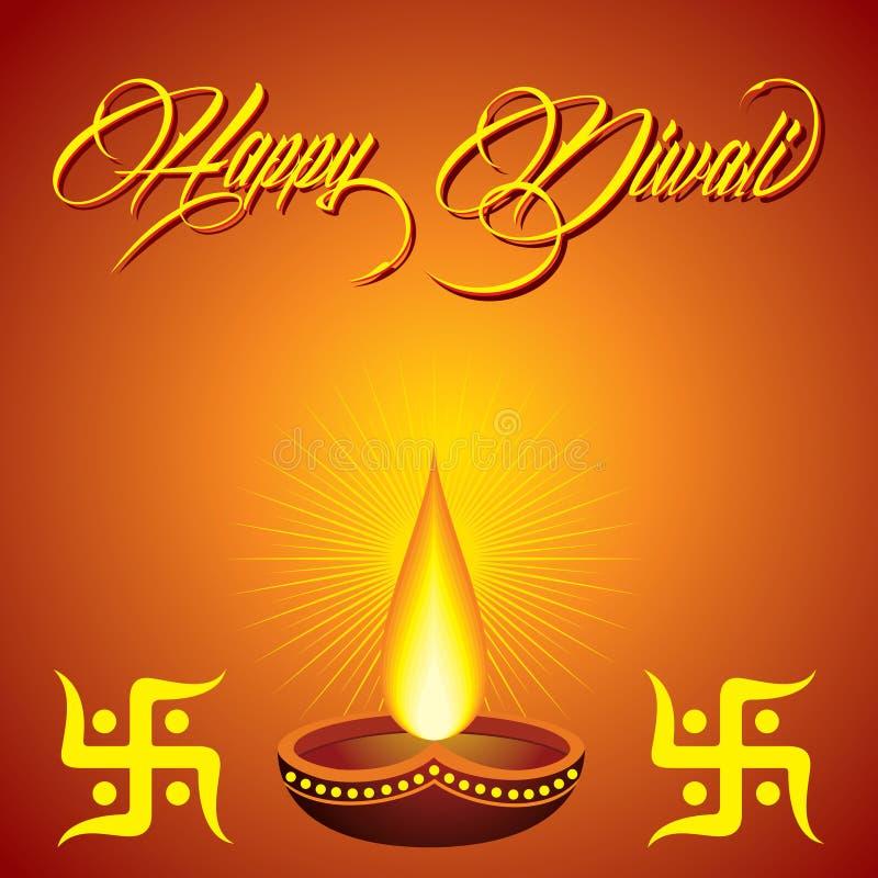 Fond de salutation de Diwali