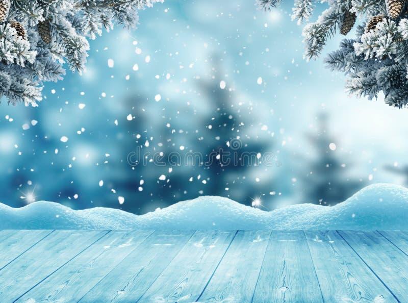 Fond de salutation de Joyeux Noël et de bonne année avec le tabl photo stock