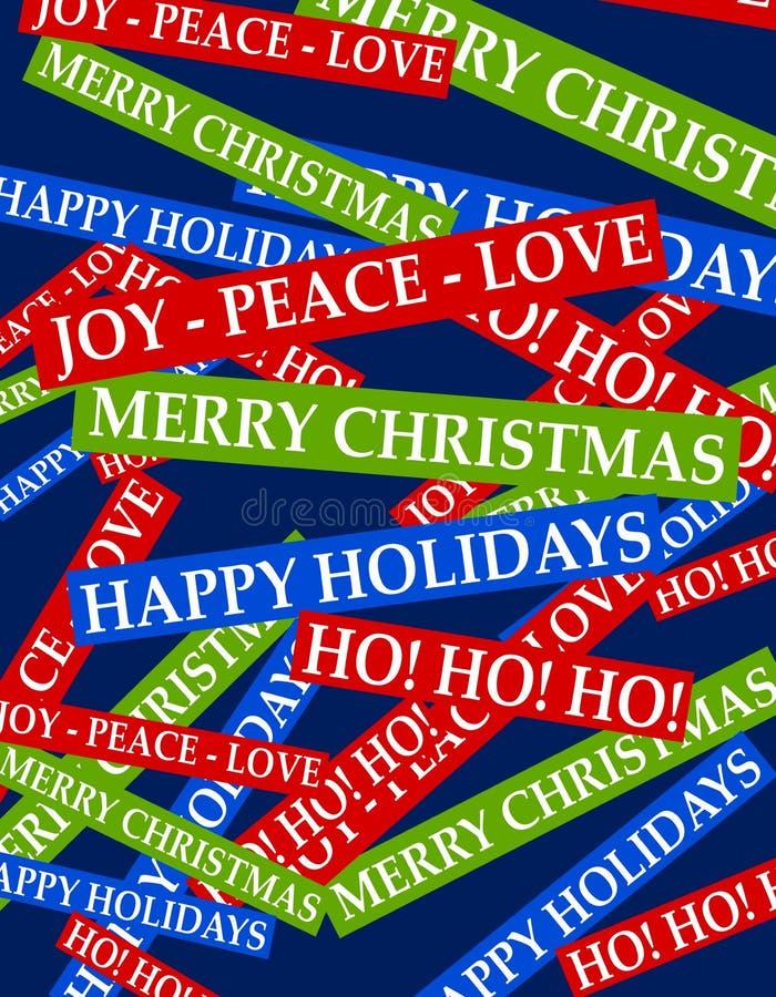 Fond de salutations de Noël illustration stock