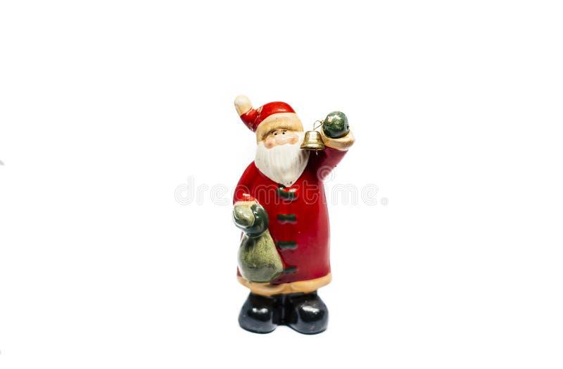 Fond de Santa Decor Christmas On White photos libres de droits