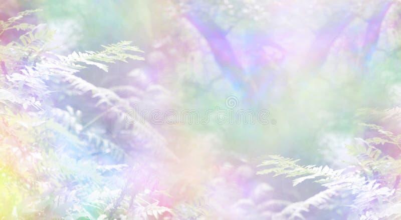 Fond de scène de région boisée d'arc-en-ciel images libres de droits