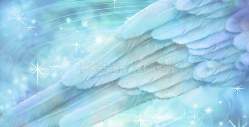 Fond de scintillement d'aile d'ange bleu illustration libre de droits