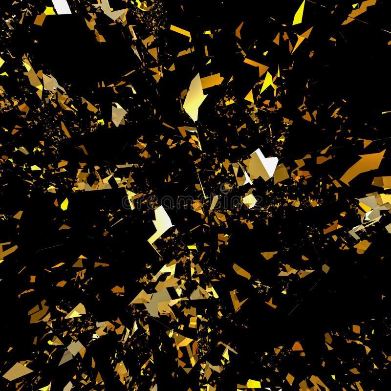 Fond de scintillement de flocon d'or illustration de vecteur