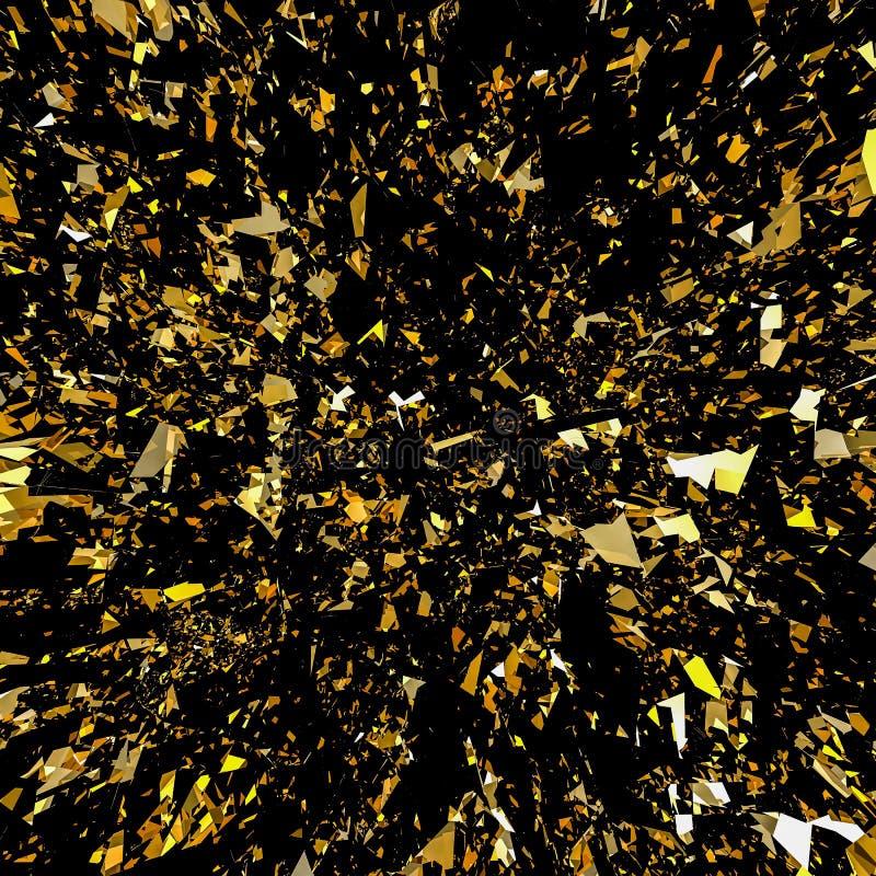 Fond de scintillement de flocon d'or illustration stock
