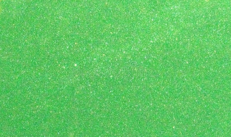 Fond de scintillement de vert de nouvelle année de Noël Tissu abstrait de texture de vacances Élément, éclair photo libre de droits