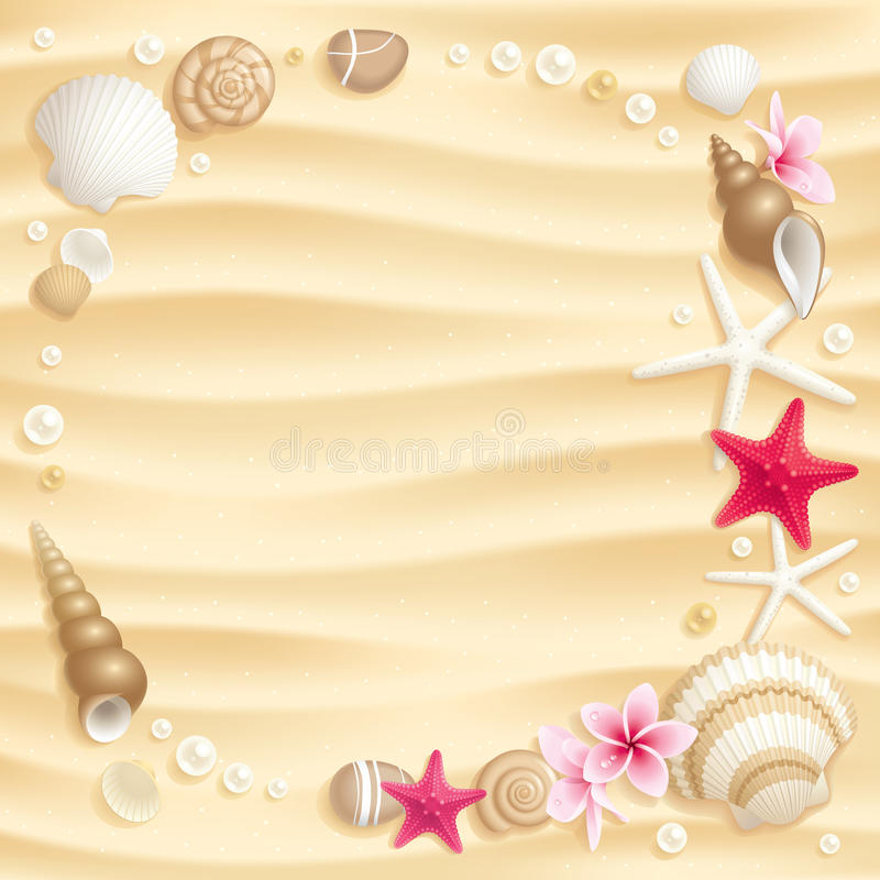 Fond de Seashell illustration de vecteur