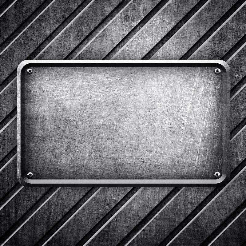 Fond de signe en métal illustration libre de droits