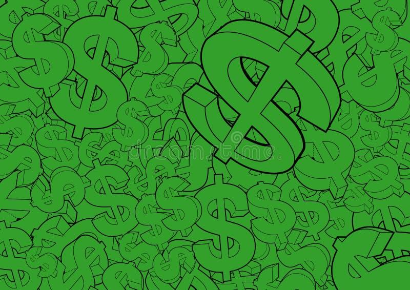 Fond de signes du dollar images libres de droits