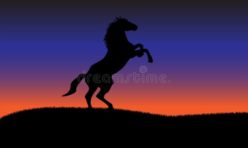 Fond de silhouette de cheval illustration libre de droits