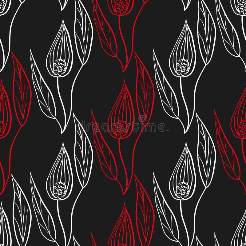 Download Fond de Spathiphyllum illustration de vecteur. Illustration du imagery - 56475625