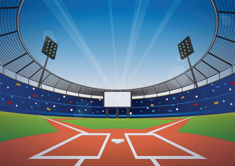 Fond de stade de base-ball illustration libre de droits