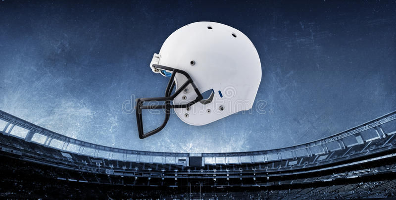 Fond de stade de football avec le casque images libres de droits