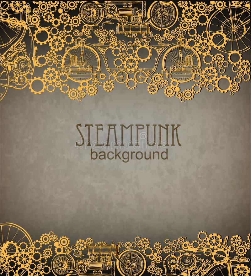 Fond de Steampunk Ère victorienne, style de steampunk illustration de vecteur