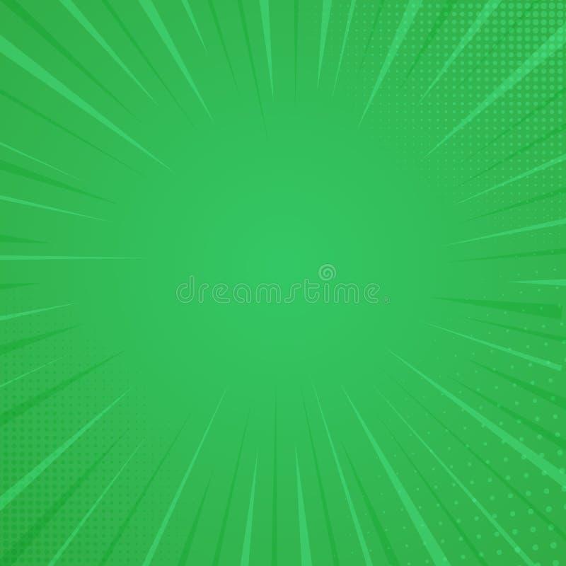 Fond de style de bande dessinée, texture d'impression tramée Illustration de vecteur sur le fond vert illustration de vecteur