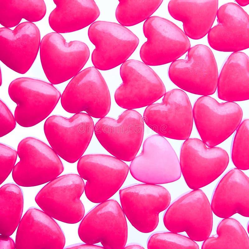 Fond de sucrerie de coeur Le jour de Valentine image stock