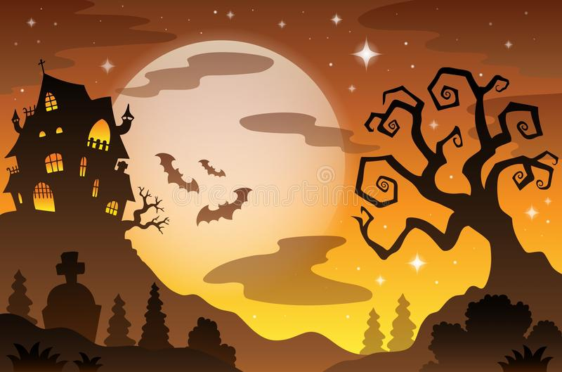 Fond 2 de sujet de Halloween illustration stock