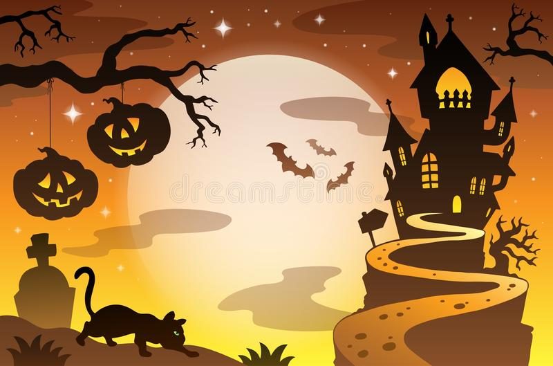 Fond 4 de sujet de Halloween illustration stock
