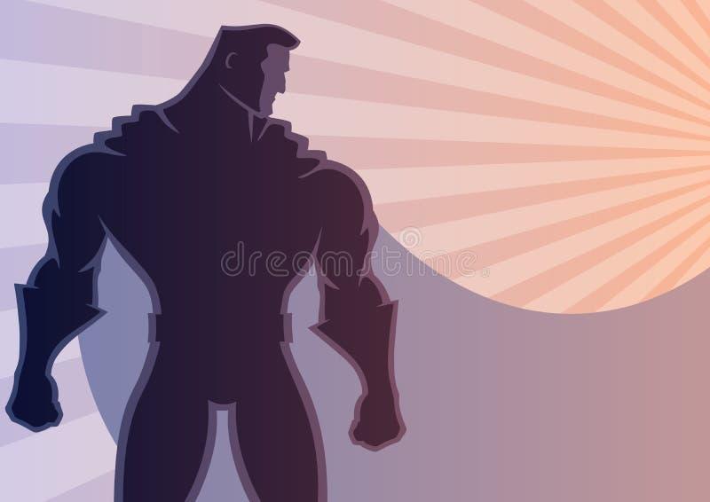 Fond 2 de super héros illustration libre de droits