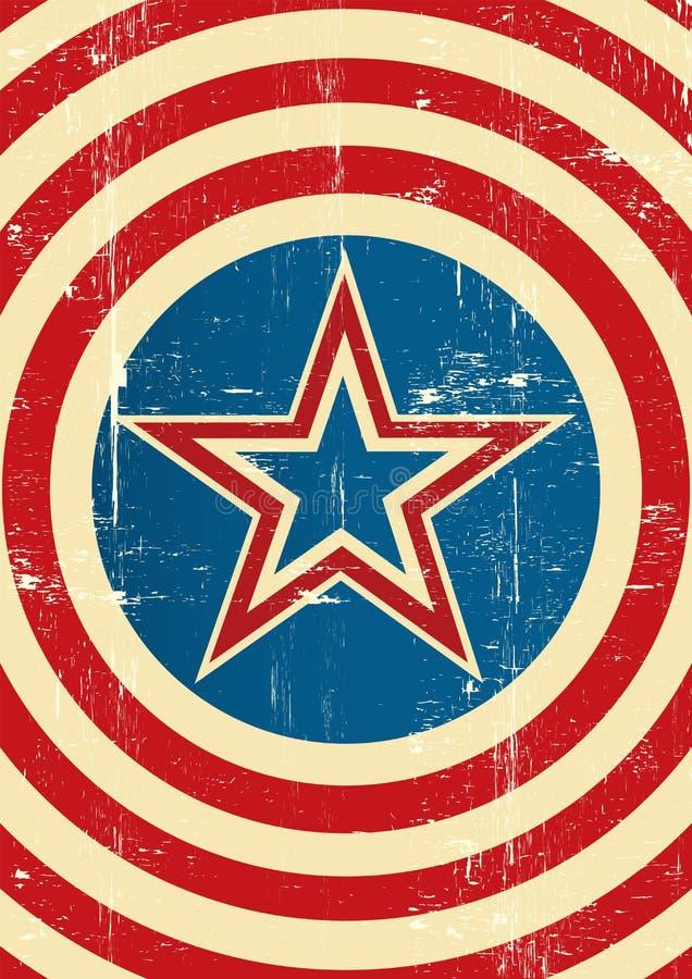 Fond de super héros des Etats-Unis illustration stock