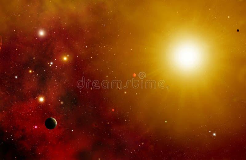Fond de système d'étoile illustration de vecteur