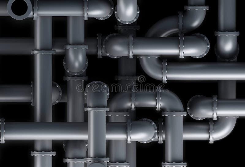 fond de système de tuyau 3d illustration de vecteur