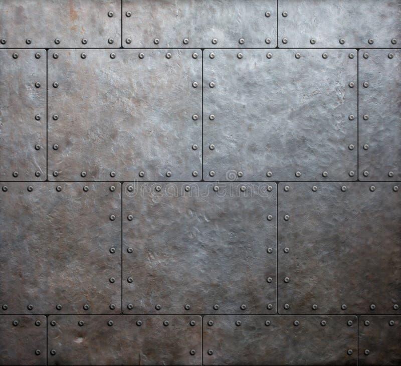 Fond de tôles de blindage en métal photos stock