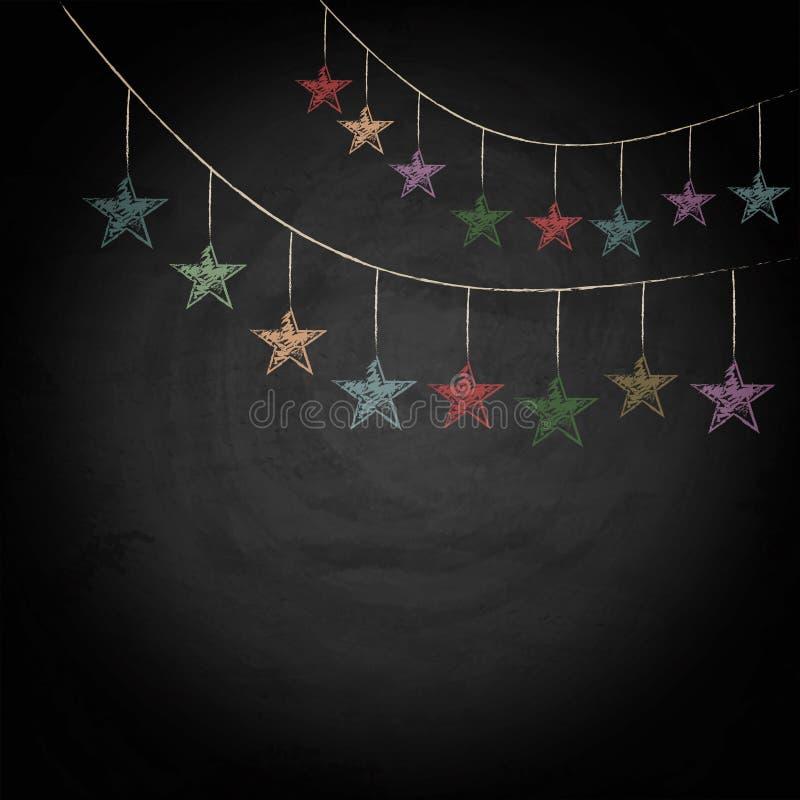 Fond de tableau avec des étoiles d'étamine de dessin illustration libre de droits