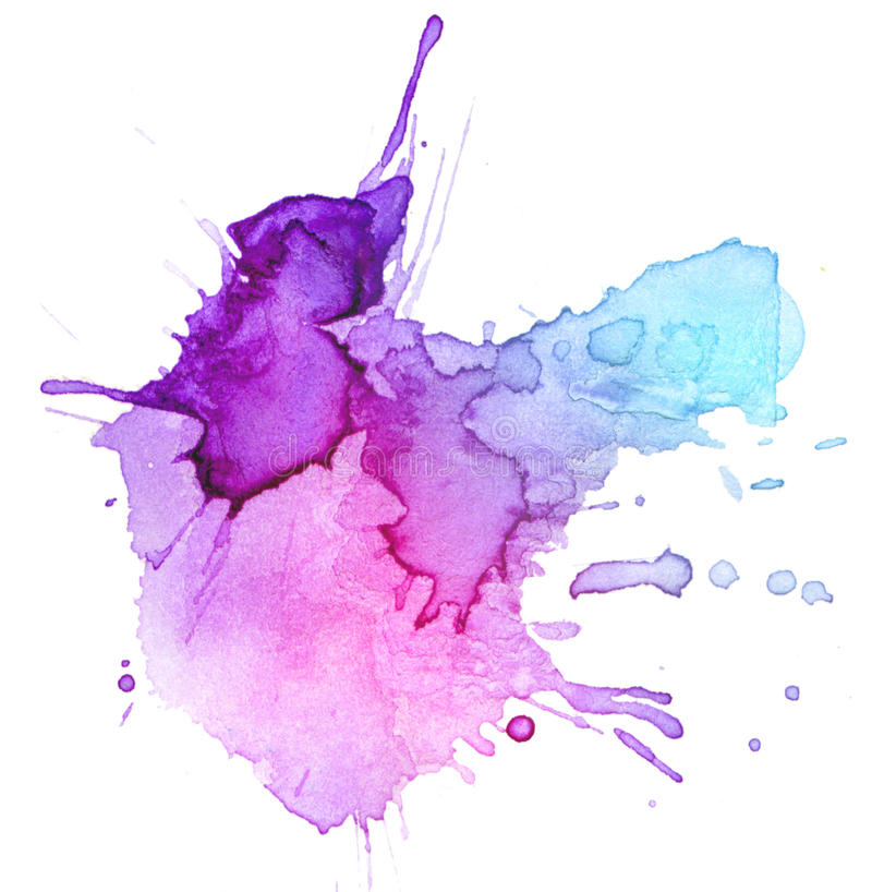 Fond de tache d'aquarelle illustration stock