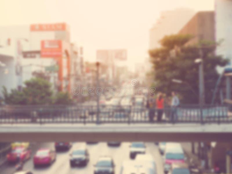 Fond de tache floue de la vie de ville image libre de droits