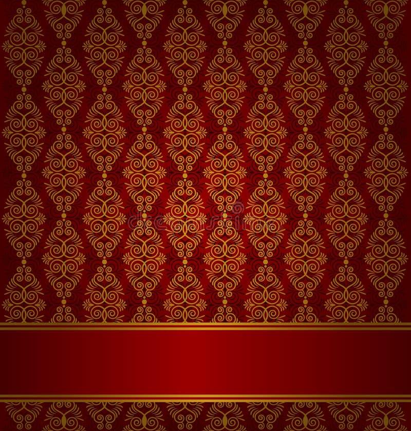 Fond de tapisserie de cru. illustration stock
