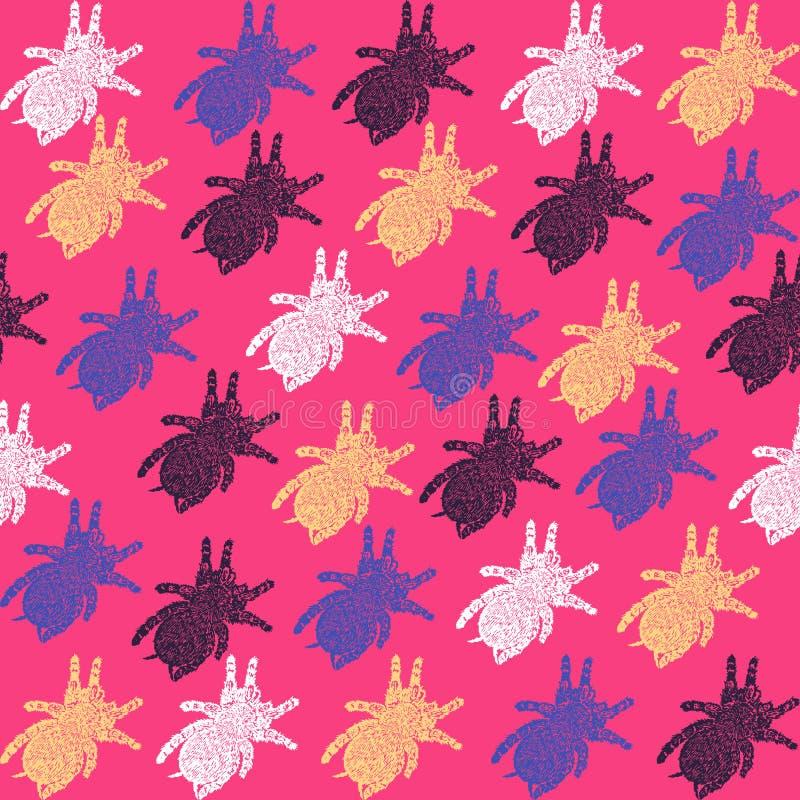 Fond de tarentule de Linocut illustration stock