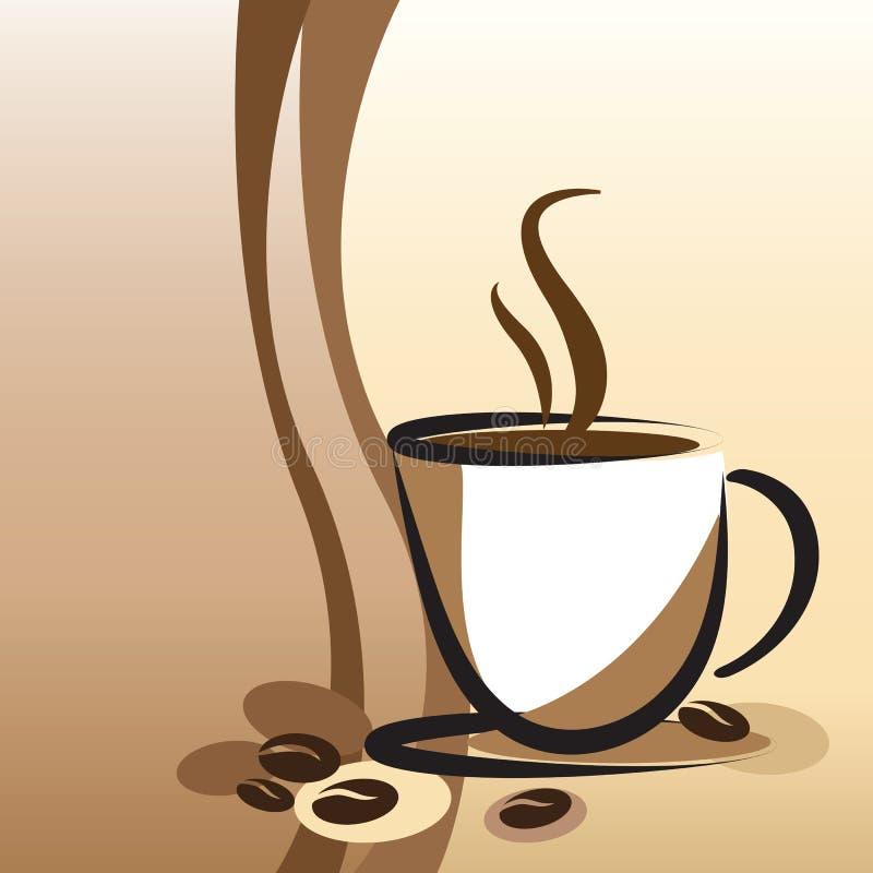 Fond de tasse de café rétro illustration stock