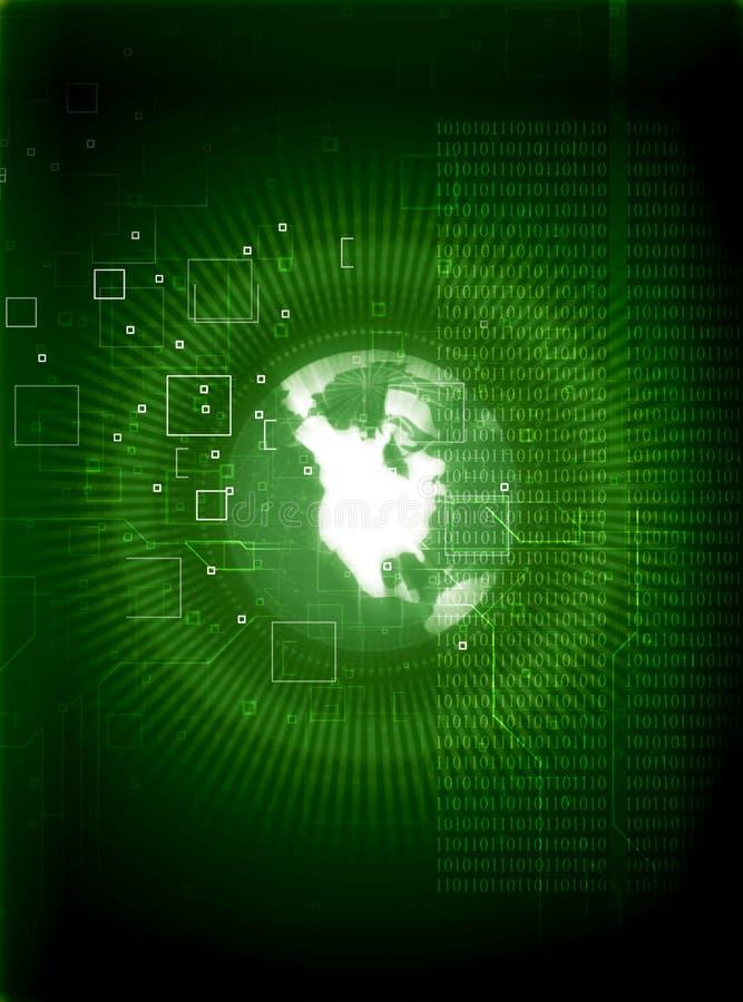 Fond de technologie avec l'earthglobe illustration stock