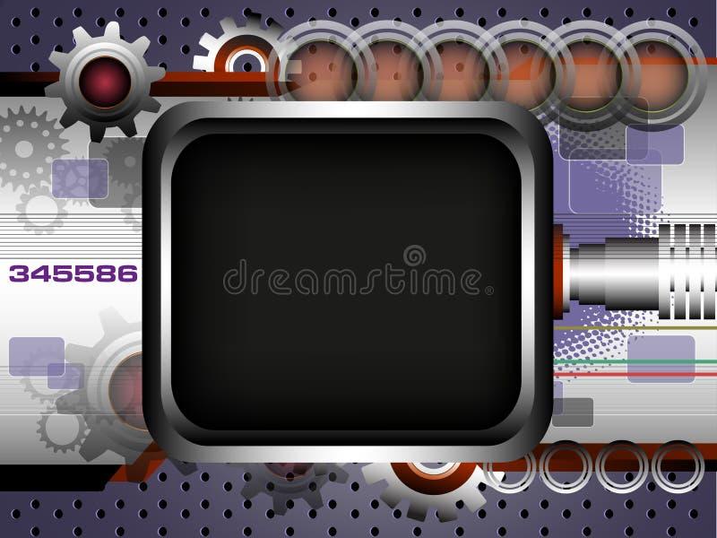 Fond De Technologie Avec Le Cadre Photos stock