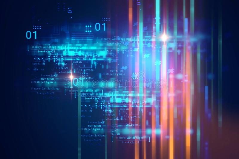 Fond de technologie d'abrégé sur numéro de code de Digital illustration de vecteur