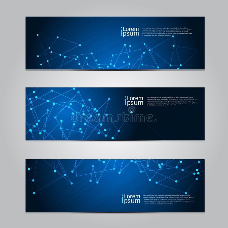 Fond de technologie de bannière de conception de vecteur illustration stock