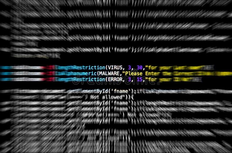 Fond de technologie de code source et d'abrégé sur illustration de vecteur