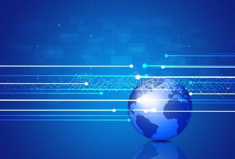 Fond de technologie de connexions de Digital illustration stock