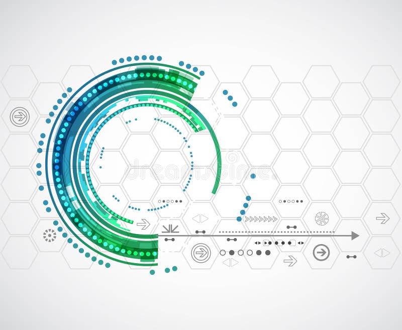 Fond de technologie de couleur/affaires abstraits informatique illustration libre de droits