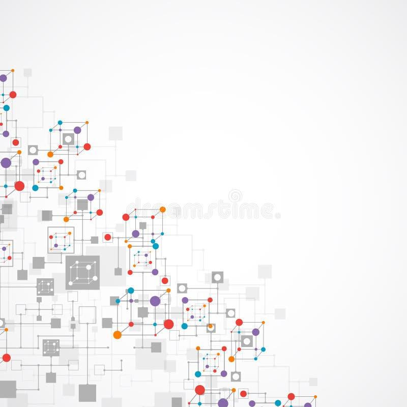 Fond de technologie de couleur de réseau illustration de vecteur