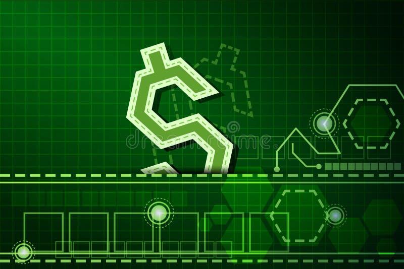 Fond 3 de technologie de finances illustration stock