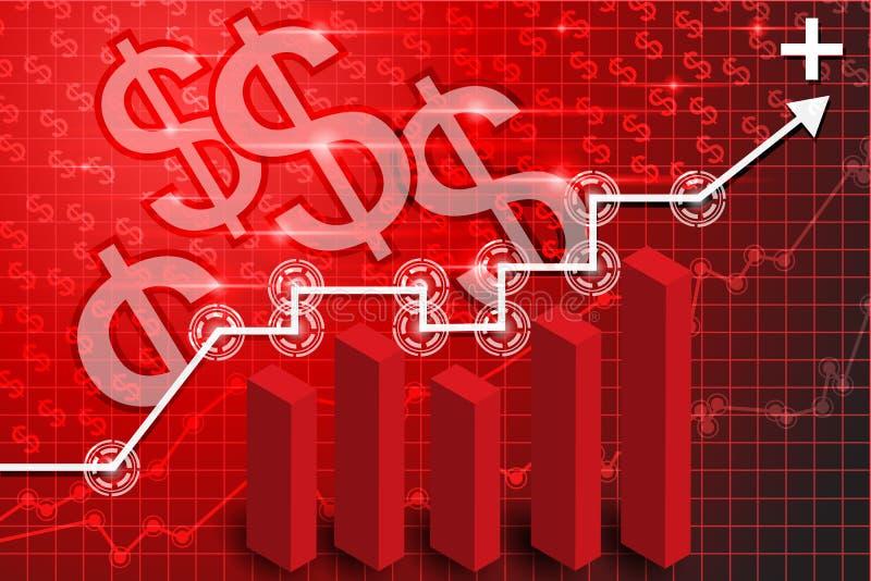 Fond 4 de technologie de finances illustration libre de droits
