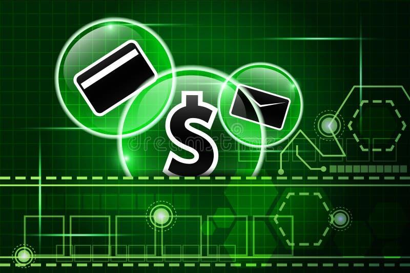 Fond 5 de technologie de finances illustration de vecteur