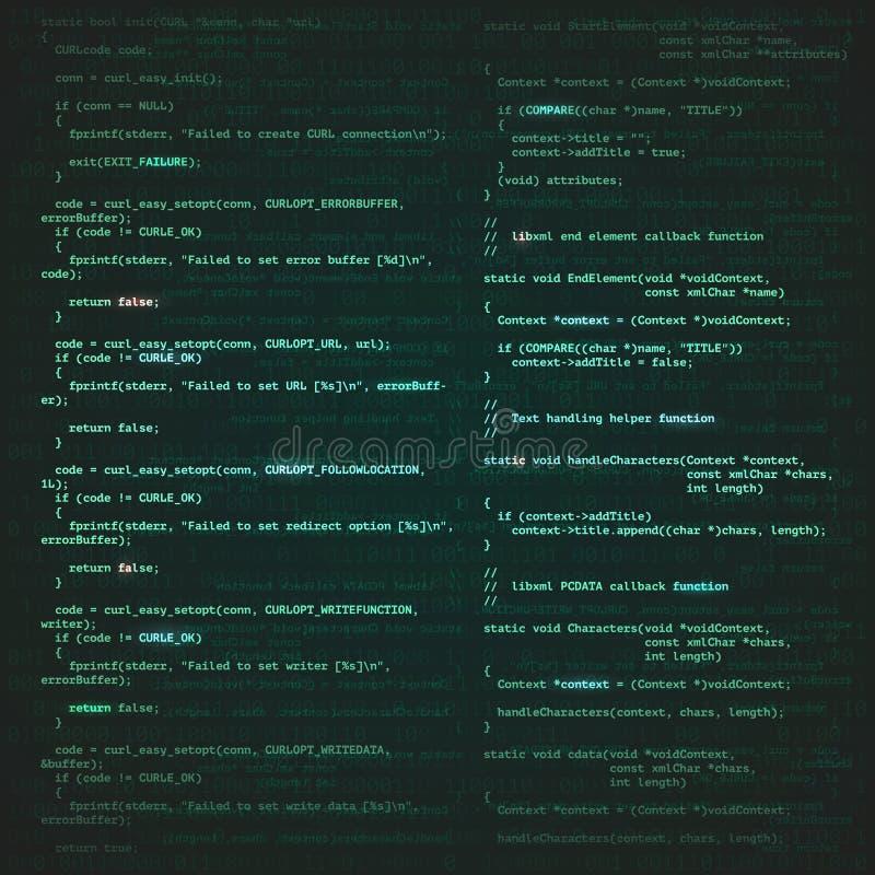 Fond de technologie de la programmation illustration de vecteur