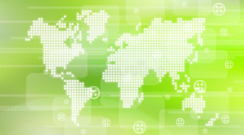Fond de technologie du monde illustration de vecteur