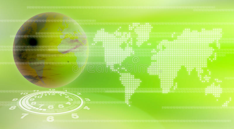Fond de technologie du monde illustration stock
