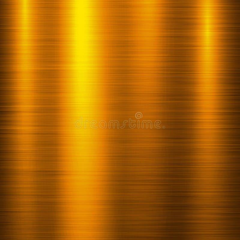 Fond de technologie en métal d'or illustration de vecteur